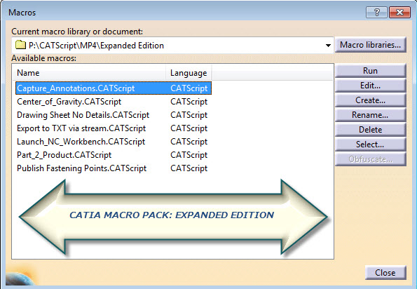 catia macro pack expanded edition
