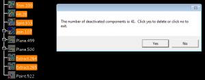 delete deactivated components catia