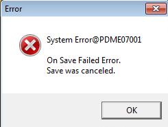 catia error save failed