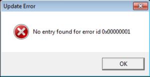 catia error no entry found