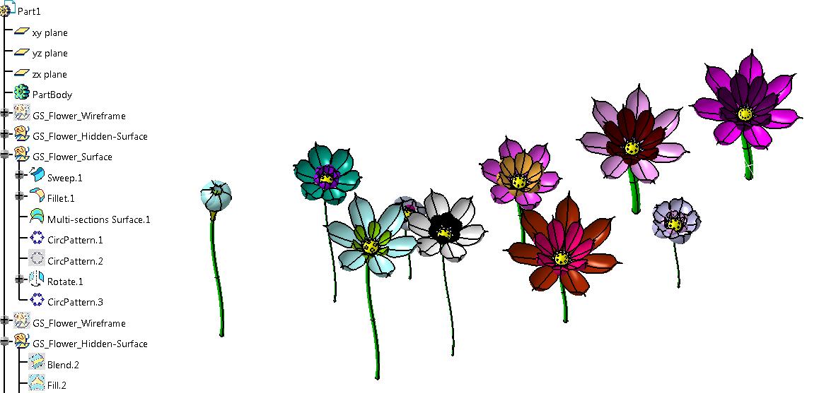 catia flower